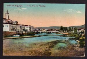 Ansichtskarte Veles Vue de Wardar Serbien 1916 Serbie Feldpost Etappen Kraftfahrer K