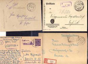 B405 13x SBZ Brief Karte Ganzsache Gebühr bezahlt 1945 Gotha 1945 1946 Drogerie