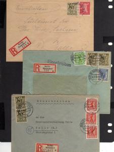 B1017 3x Brief Westberlin Einschreiben Berlin Mariendorf Neukölln Halensee an Pr