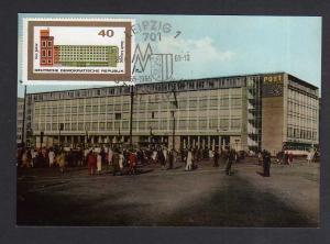 Maximumkarte DDR 1965 1128 Messe Herbstmesse Leipzig Neue Post
