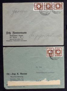 B1047 2x Brief Ostsachsen 42 MeF Ortsbrief Fernbrief