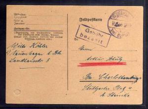 B613 Karte SBZ Gebühr bezahlt 1946 Neuenhagen bei Berlin