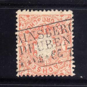 B1300 Sachsen 15 Wappen Stempel Hainsberg - Deuben 1866