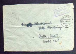 B564 SBZ Brief Gebühr bezahlt 1945 Lützen Kr. Merseburg Wendeumschlag innen noch
