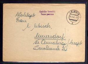 B540 SBZ Brief Gebühr bezahlt 1948 Leisnig Taxe percue
