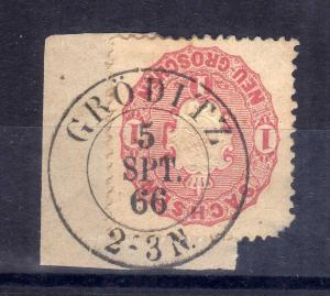 B1292 Sachsen 16 Gröditz 1866 Briefstück
