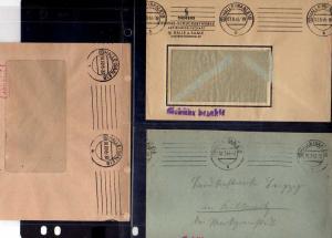 B448 10x SBZ Brief Karte Gebühr bezahlt 1945 Halle Saale Braunkohlen Industrie V