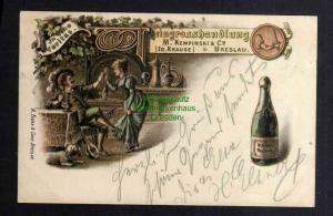 Ansichtskarte Breslau 1901 Weingroßhandlung Kempinski in vino veritas