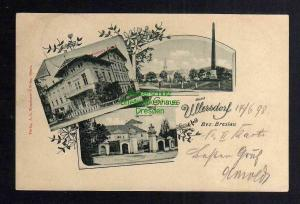 Ansichtskarte Ullersdorf Bez. Breslau 1898 Lehmanns Hotel Schloss