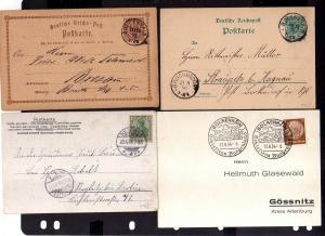 v242 7 Belege Bolkenhain 1873 - 1944 SST Oberschlesiens Burgen 2x Brief