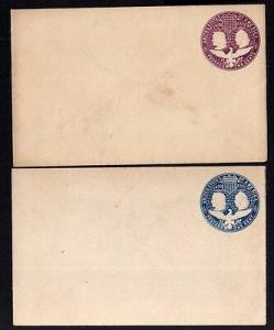 2 Ganzsachen USA Kolumbus 1892 Format 14,9 x 9,4 cm ungebraucht