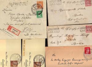 v233 Königszelt 2x Ganzsache NDP um 1870 Kastenstempel Einschreiben 1928 Brief