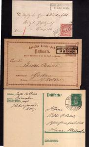 v240 3 Belege Hohenfriedeberg NDP 1868 Postkarte um 1872 1928