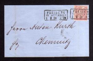 v235 NDP Faltbrief 1868 Freiburg in Schlesien