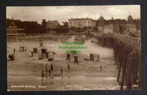 Ansichtskarte Ostsebad Misdroy Strand Fotokarte 1926 Seesteg