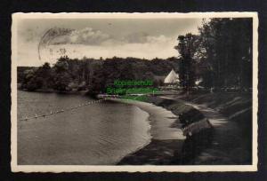 Ansichtskarte Walcz Deutsch Krone Pommern 1942 Partie am Strandbad