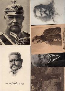 6 Ansichtskarte Reichspräsident Hindenburg 1915 1925 1918 Ritterkreuz