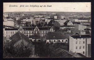 Ansichtskarte Grudziadz Graudenz Blick Richtung Stadt 1915 Feldpost