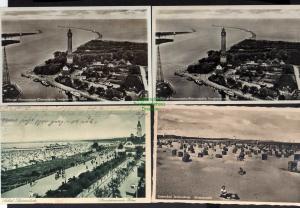 7 Ansichtskarte Swinemünde Osternothafen Luftbild um 1935 1905 Lutherkirche um 1925