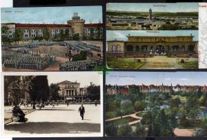 7 Ansichtskarte Posen Truppenübungsplatz 1907 Wilhelmplatz 1942 Reichsuniversität