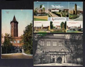 3 Ansichtskarte Legnica Liegnitz Schiesshaus 1918 Schlossportal 1919 1921