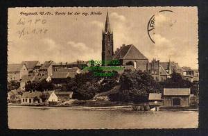 Ansichtskarte Kisielice Freystadt in Westpreußen um 1915 Partie bei der evg. Kirche