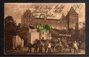 Ansichtskarte Neidenburg Opr. Nach der zerstörung 1914 erbeutete russ. Feldküche