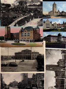 6 Ansichtskarte Posen Königl. Staatsarchiv 1907 Schloss Akademie Bahnhof 1942