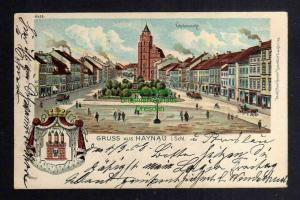 Ansichtskarte Haynau Schlesien Litho 1908 Wappen Marktplatz Kirche