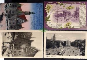 4 Ansichtskarte Breslau Schweidnitzer Straße 1899 Rathaus Königsplatz 1937