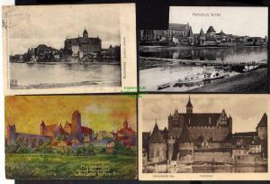 4 Ansichtskarte Marienburg Westpreußen Abstimmungsgebiet Hochschloss 1916 1920