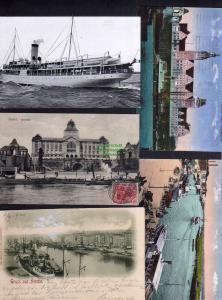 5 Ansichtskarte Stettin Schiff S.S. Herta Regierung 1915 Museum 1913 1900