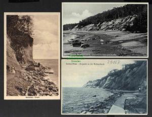 3 Ansichtskarte Warnicken Samland Küste Wolfsschlucht Bernsteinküste Georgenswalde
