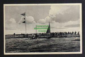 Ansichtskarte Schlawa Der Schlawaer See Das schlesische Meer 1933