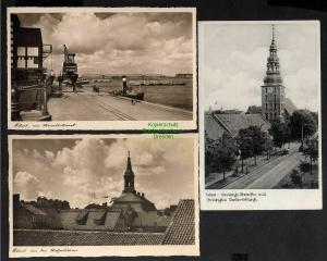 3 Ansichtskarte Tilsit Sowetsk Kaliningrad Königin Luise Brücke Deutsche Str. 1940
