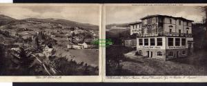 Klapp Karte Reklame  Hotel Pension Wilhelmshöhe Hain Riesengebirge u 1925