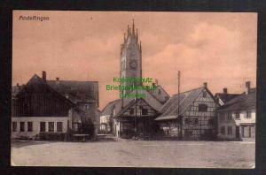 Ansichtskarte Andelfingen ZH Kanton Zürich Schweiz Markt Kirche um 1920