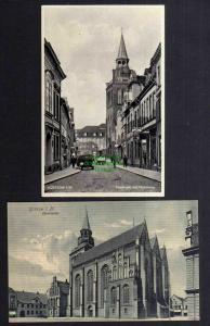 2 Ansichtskarte Güstrow Domstraße mit Pfarrkirche