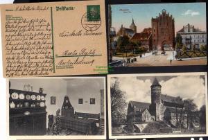 3 Ansichtskarte Allenstein Olsztyn Ostpreußen Hohes Tor Schloss Heimatmuseum