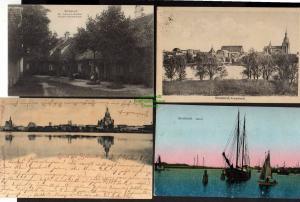 9 Ansichtskarte Stralsund St. Johannis Kloster 1908 Knieperteich 1920 Panorama 1900