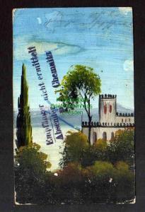 Ansichtskarte Chemnitz handgemalte Karte Albensdorf Post Ottendorf Kr. Sprottau 1908