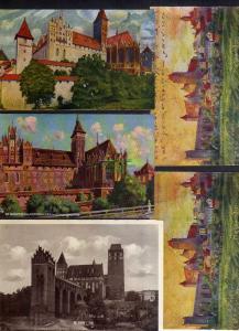 5 Ansichtskarte Marienburg Westpreußen Abstimmungsgebiet 1920 1931