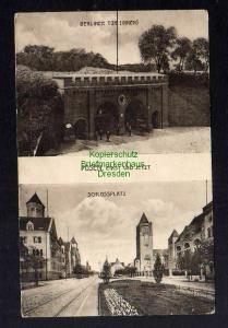 Ansichtskarte Posen Berliner Tor Innen Schloßplatz 1916