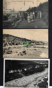3 Ansichtskarte Brunshaupten Friedrich Franz Promenade 1916 Luftbild Fliegerfoto