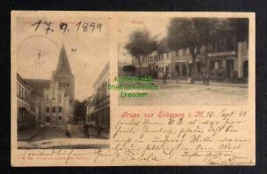Ansichtskarte Schwaan i. M. 1899 Markt Mühlenstrasse mit Rathaus