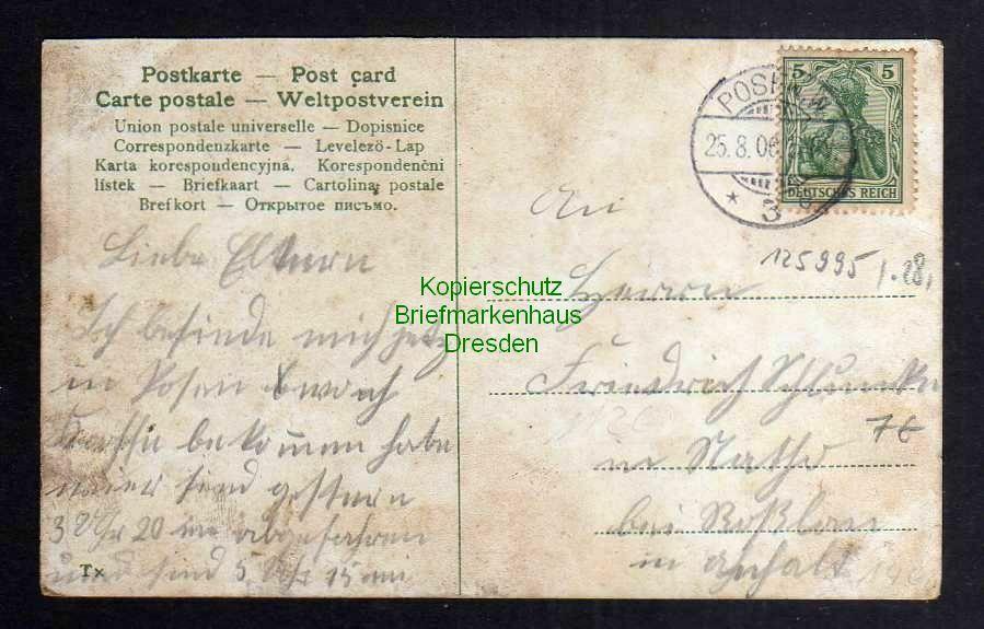 Ansichtskarte Posen Bahnhof 1906 1