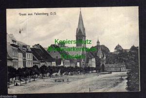 Ansichtskarte Falkenberg O./S. Markt Kirche 1912