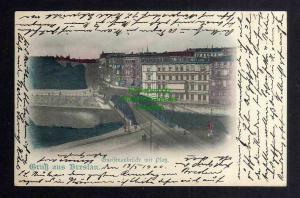 Ansichtskarte Breslau 1900 Gneisenaubrücke mit Platz