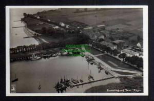 Ansichtskarte Lauterbach Insel Rügen Hafen Luftbild um 1935
