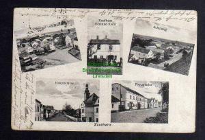 Ansichtskarte Zauchwitz Schlesien Mälzerei Kaufhaus Schulweg Postagentur 1921